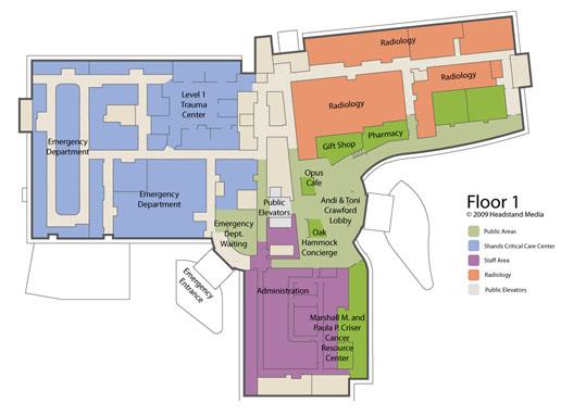 Shands Healthcare - Floor Plan 1