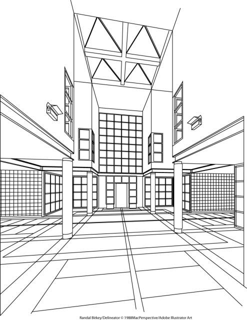 Loft Lobby 3D Wireframe