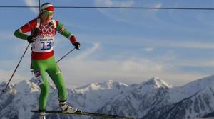 Eurosport - Darya Domracheva of Belarus skis during the women's biathlon 15km individual event (Reuters)