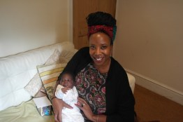 Lorna and baby M