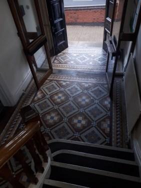Victorian Tiled Hallway Tipton Before Restoration