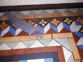 Victorian Tiled Hallway Tipton During Tile Repair
