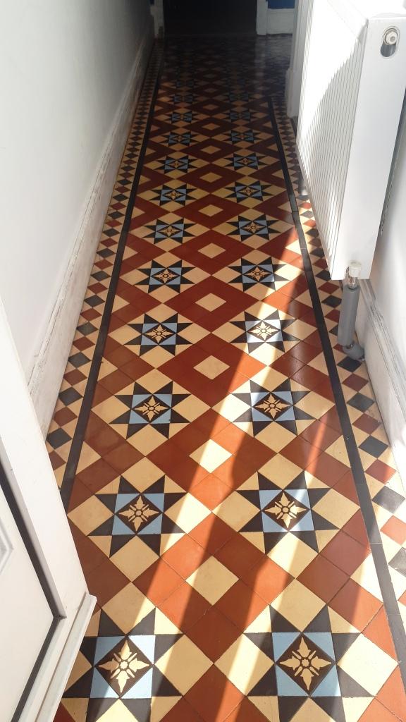 Victorian Tiled Hallway After Restoration Edgbaston