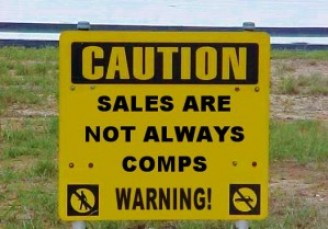 sales are not always comps