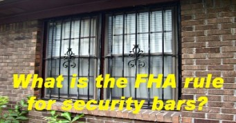 what is the fha rule for security bars