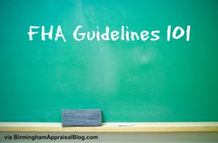 fha guidelines 101