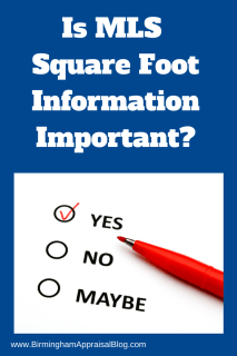 Is MLS Square Foot Information Important