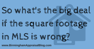 square footage in mls