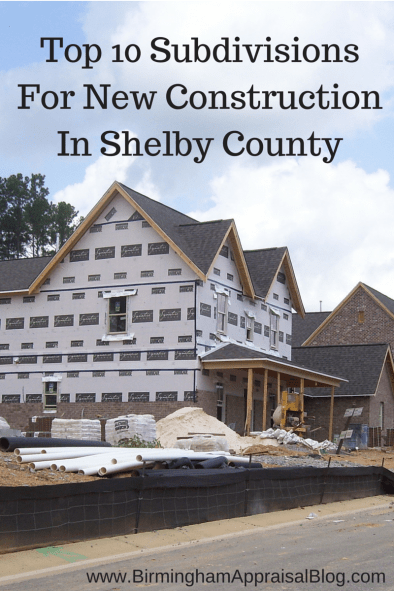 Top 10 Subdivisions For New Construction In Shelby County