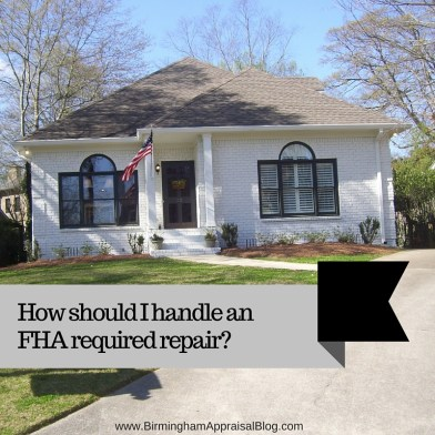 FHA appraisal problems