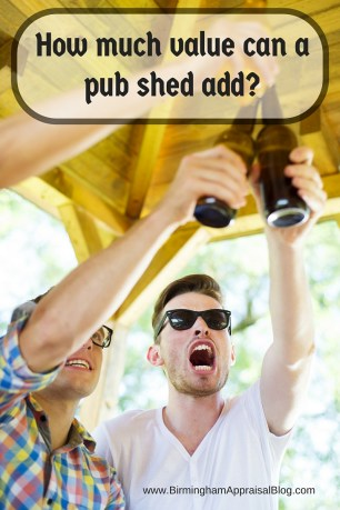How much value can a pub shed add