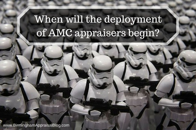 When will the deployment of AMC appraisers begin