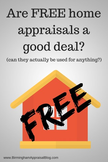 what are free home appraisals