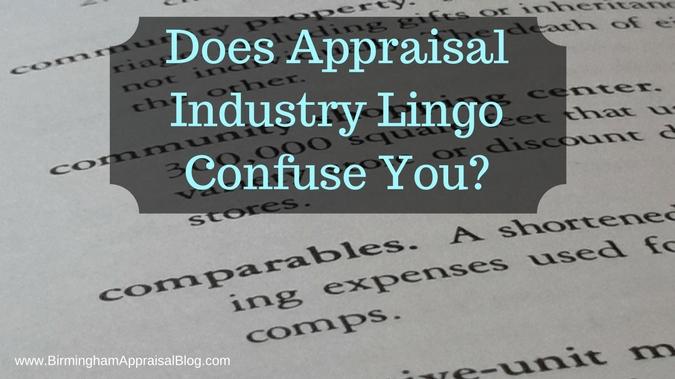 Appraisal industry lingo (1)