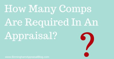 How Many Comps Are Required In An Appraisal