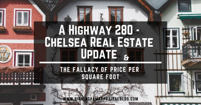 Highway 280 and Chelsea Update and Price Per Square Foot