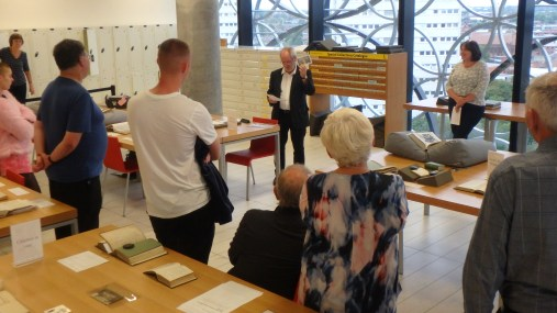 Listening to launch speech by Prof Grosvenor