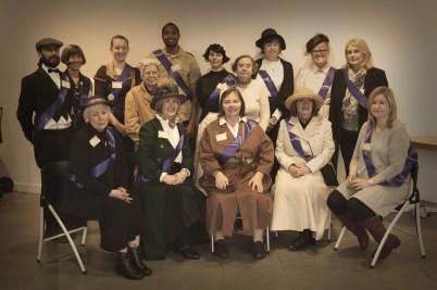 Costumed volunteers