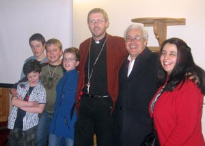 Elliot, Jonathan, Pete, Matthew and Craig with George and Namine Tadros
