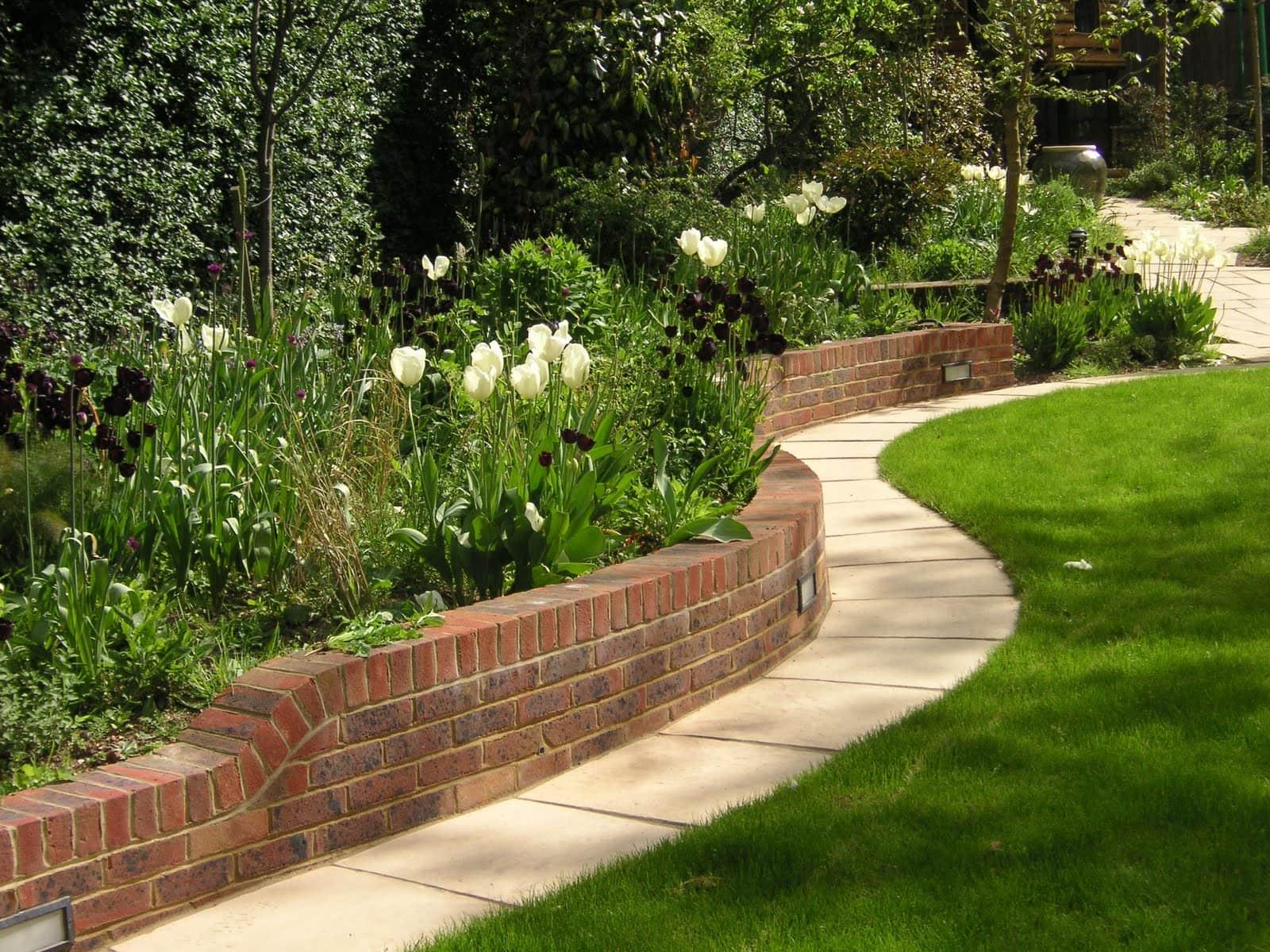 Patios, Paths and Walls in Birmingham in November ... on Garden Patio Wall Ideas id=83847