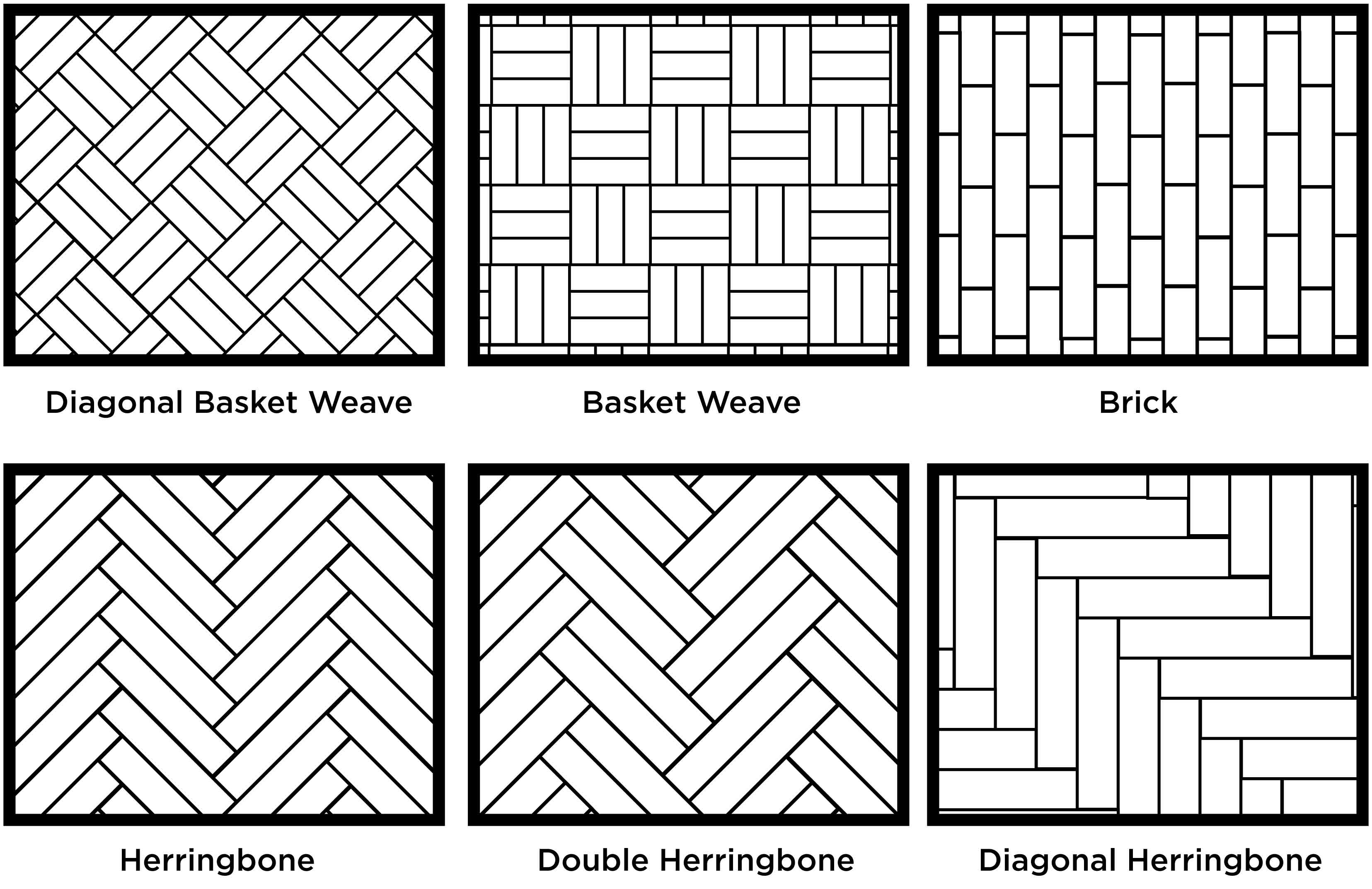 Herringbone Floor Pattern Line Drawing Sketch Coloring Page