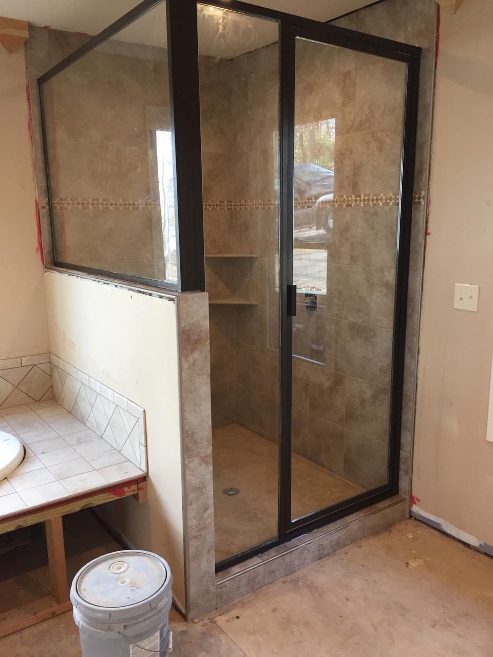Framed Glass Shower Door Enclosures Birmingham Glass Works Al