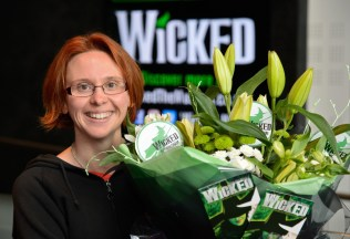 Michelle Bates, first in the queue to buy tickets in person to see Wicked at Birmingham Hippodrome.