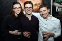 Rachel Salenius (puppet technician), Joseph Richardson (Goose) and Gavin Swift (Geordie)