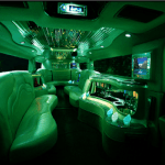 White hummer limo hire birmingham interior