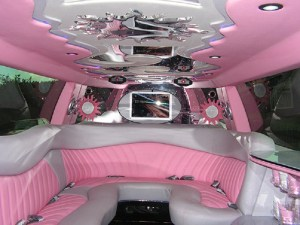 Pink Limo Hire Birmingham in London