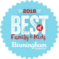 2018 Best Family & Kids Award from Birmingham Magazine