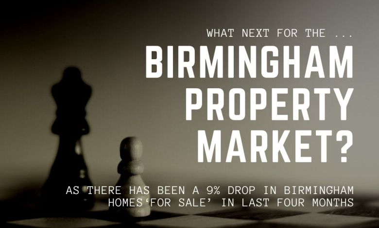 9% drop in Birmingham Homes 'For Sale' in last four months