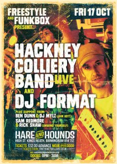 Freestyle presents... Hackney Colliery Band + DJ Format @ Hare & Hounds (Kings Heath), Fri 17th Oct