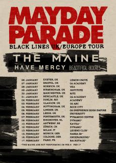 Mayday Parade - Black Lines Tour 2016