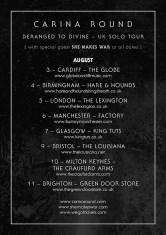 Carina Round - Deranged to Divine, tour poster