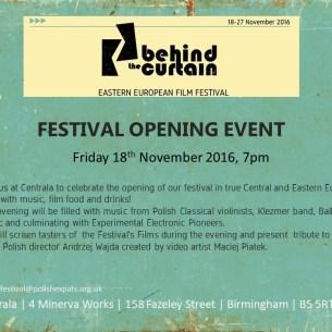 Behind the Curtain Film Festival - launch invitation