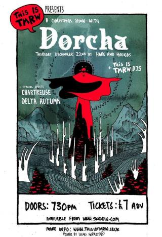 BPREVIEW:  Dorcha + Chartreuse, Delta Autumn @ Hare & Hounds 22.12.16 / Artwork by Lewes Herriot