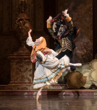 Ruth Brill as Red Riding Hood and Valentin Olovyannikov as the Wolf / Bill Cooper