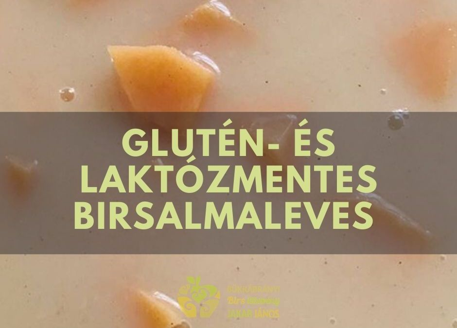 BIRSALMA LEVES RECEPT glutén- és laktózmentesen