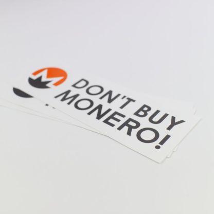 Don't Buy Monero Bumper Sticker