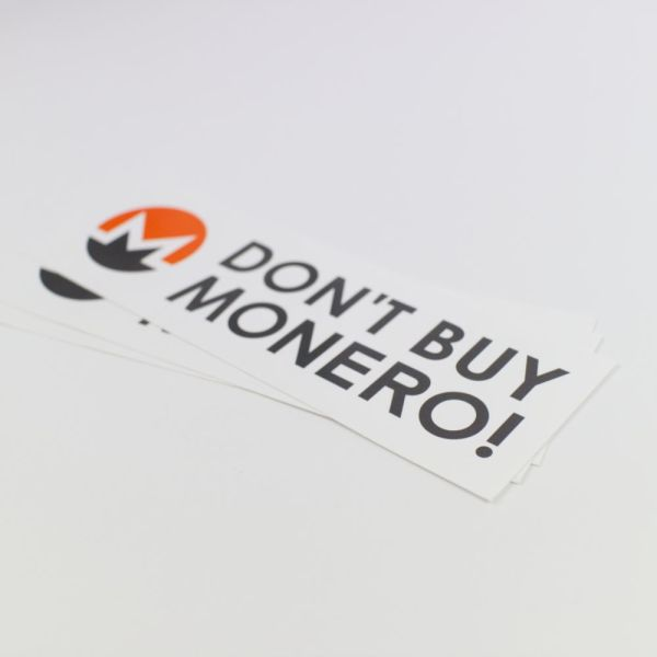 Don't Buy Monero Bumper Sticker