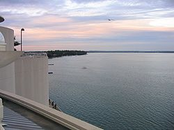 View of Lake Monona from Monona Terrace