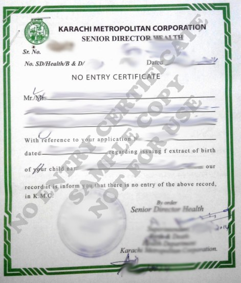 non availability of birth certificate