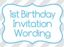 birthday invitation wording