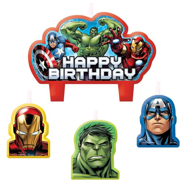 Avengers Birthday Candle Set (4 Pack) - Party Supplies