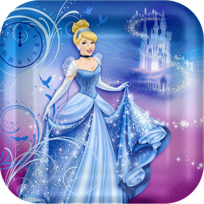 Cinderella Dinner Plate 8ct Birthday Party Supplies Plates