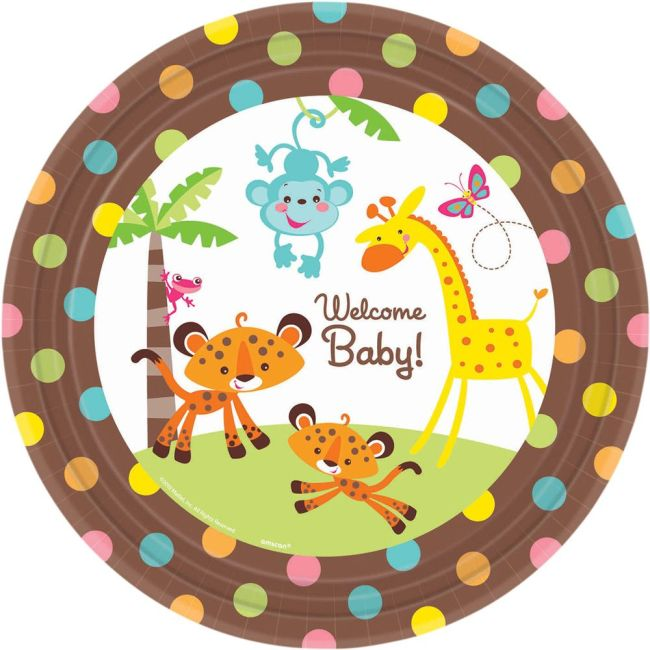 Fisher Price Baby Luncheon Plate (8 Pack) Birthday Party Supplies Plates