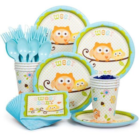 Forest owls baby shower theme