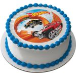 Hot Wheels 7 5 Round Edible Cake Topper Cooking Kits Activities Party Supplies