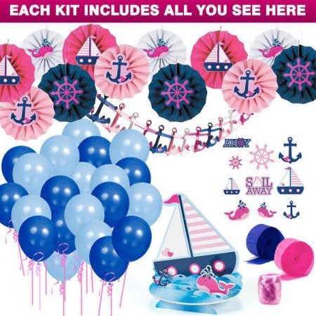 Nautical pink party decorations